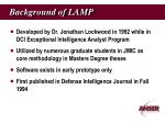 background of lamp
