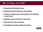 the 12 steps of lamp