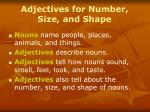 adjectives for number size and shape9