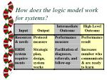 how does the logic model work for systems