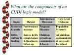 what are the components of an ehdi logic model