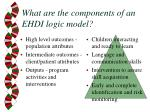 what are the components of an ehdi logic model17