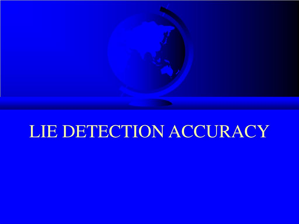 lie detection accuracy l.