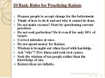 10 basic rules for practicing kaizen