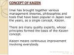 concept of kaizen