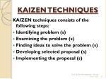 kaizen techniques