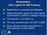 economics stern report for hm treasury