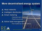 more decentralised energy system