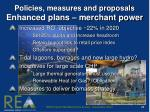 policies measures and proposals enhanced plans merchant power