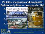 policies measures and proposals enhanced plans non residential