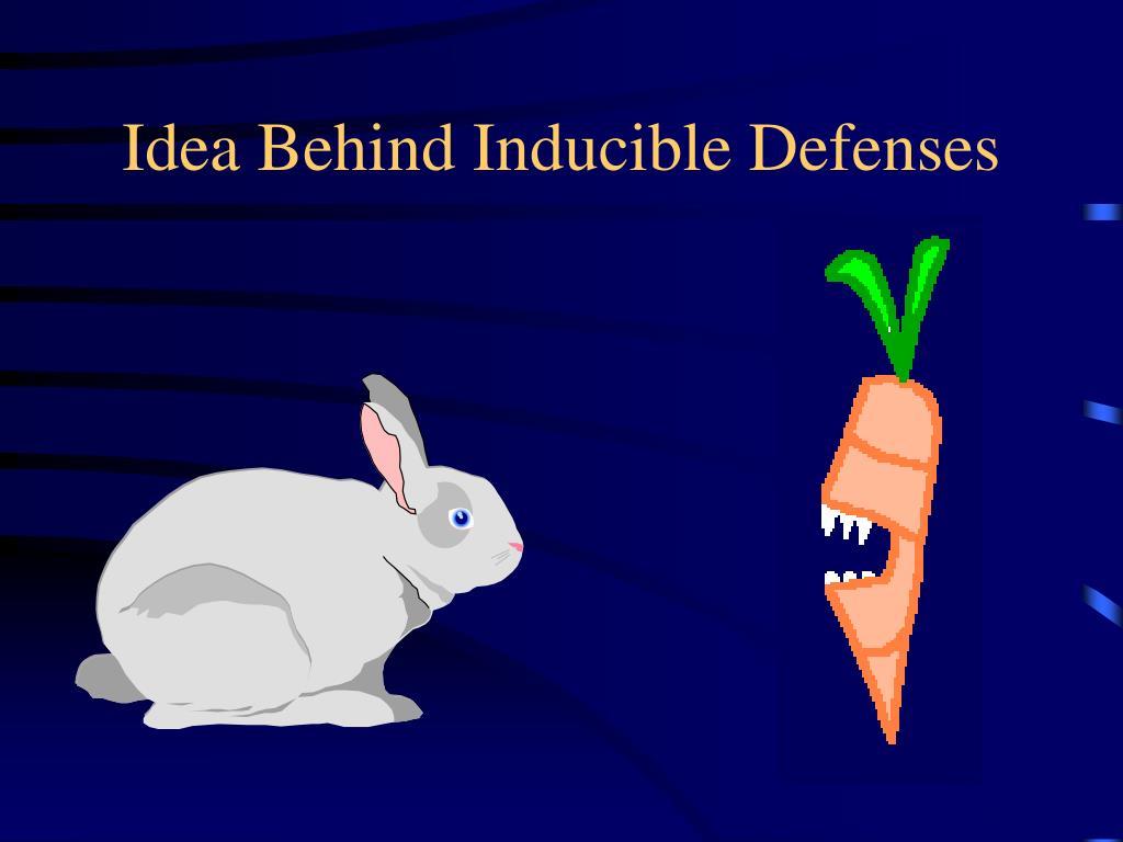 Idea Behind Inducible Defenses