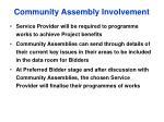 community assembly involvement