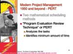 modern project management 1950 and beyond pert39