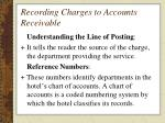 recording charges to accounts receivable