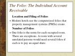 the folio the individual account receivable