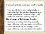 understanding charges and credits