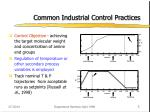 common industrial control practices