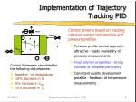 implementation of trajectory tracking pid