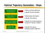 optimal trajectory generation steps
