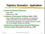trajectory generation applications