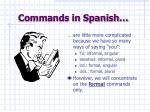 commands in spanish