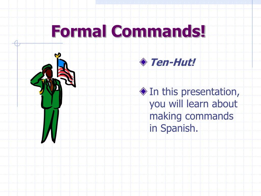 formal commands l.