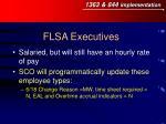 flsa executives