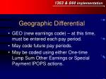 geographic differential