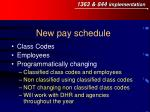 new pay schedule