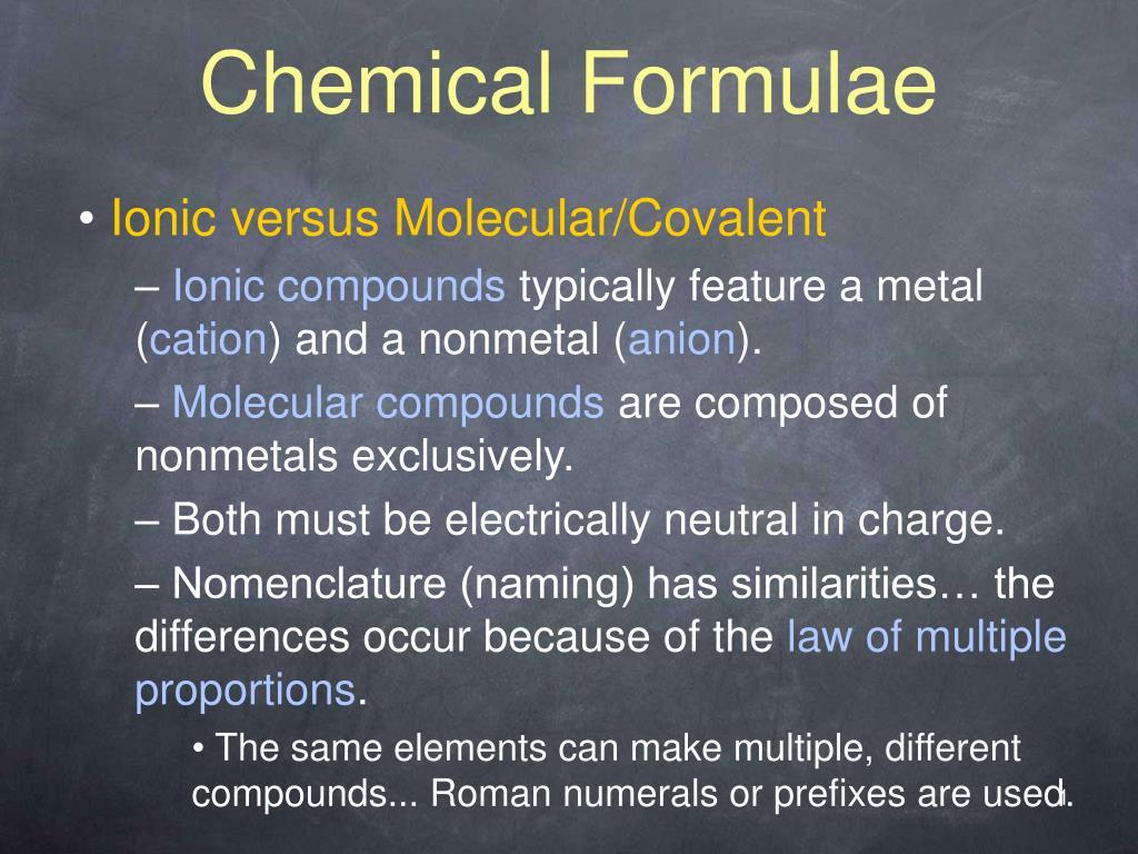 chemical formulae l.