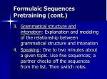 formulaic sequences pretraining cont