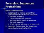 formulaic sequences pretraining