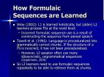how formulaic sequences are learned