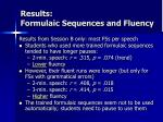 results formulaic sequences and fluency