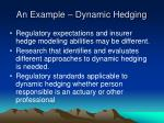 an example dynamic hedging13