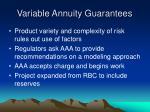 variable annuity guarantees