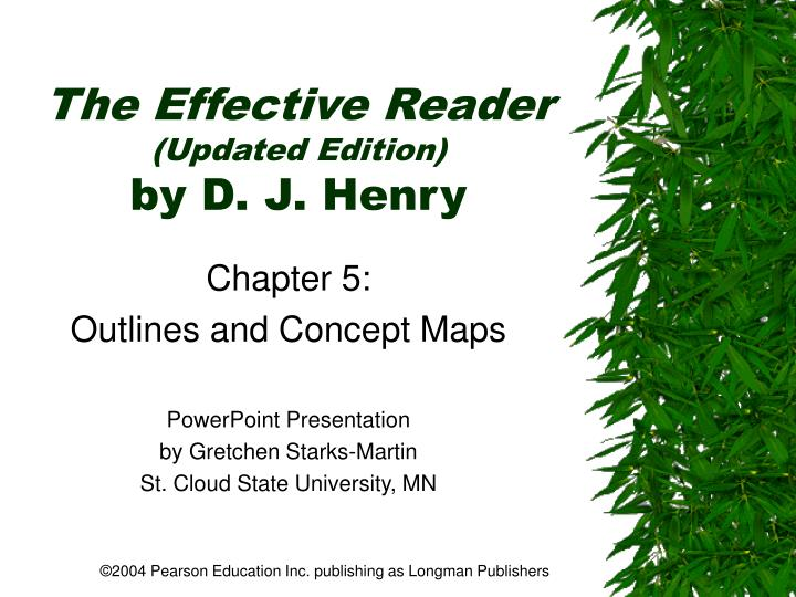 The effective reader updated edition by d j henry