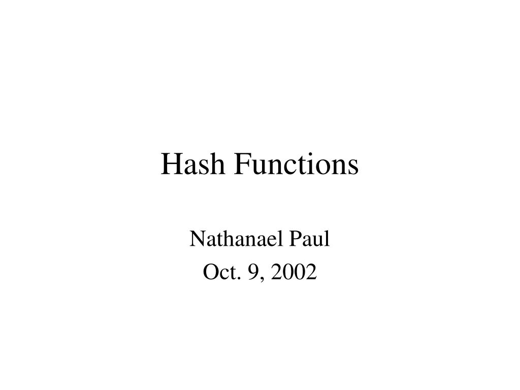 hash functions l.
