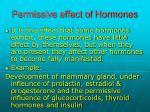permissive effect of hormones