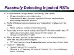 passively detecting injected rsts