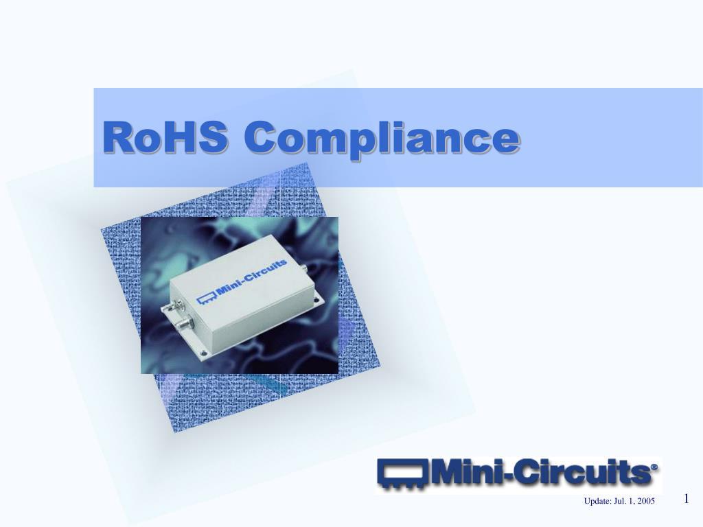 rohs compliance l.