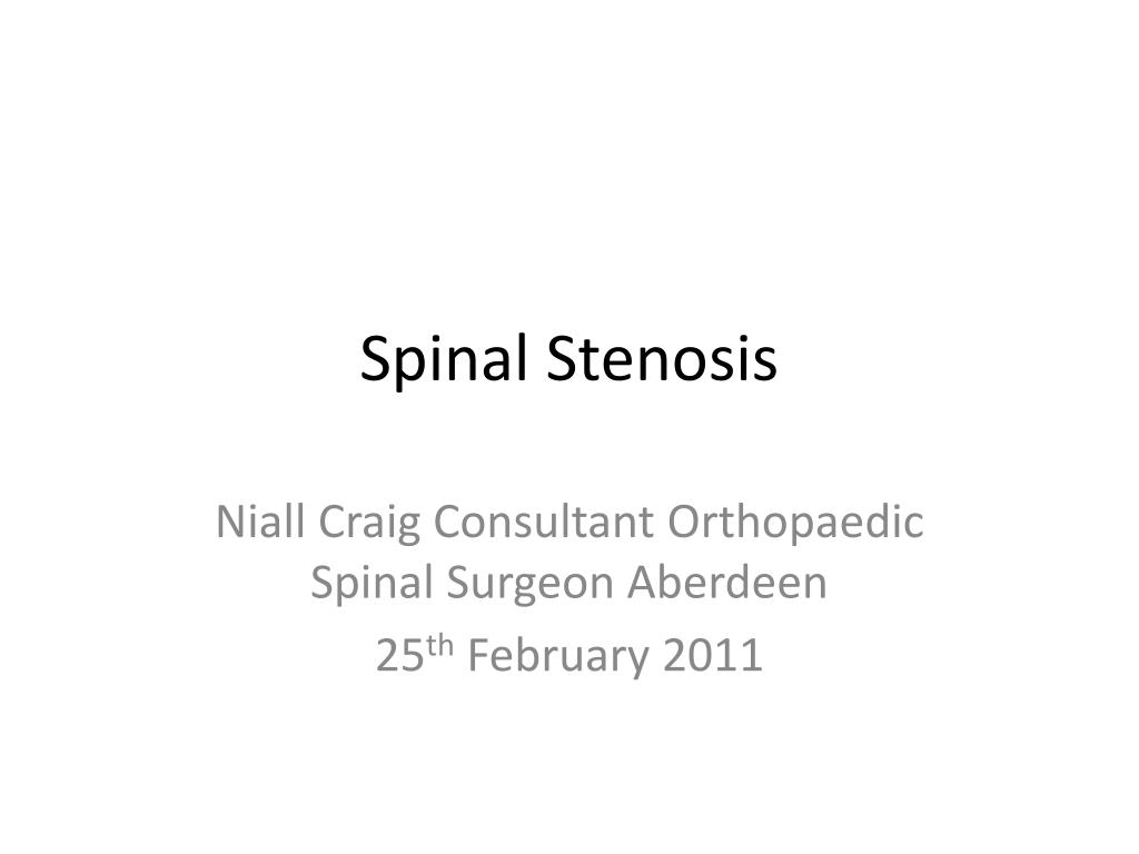 spinal stenosis l.