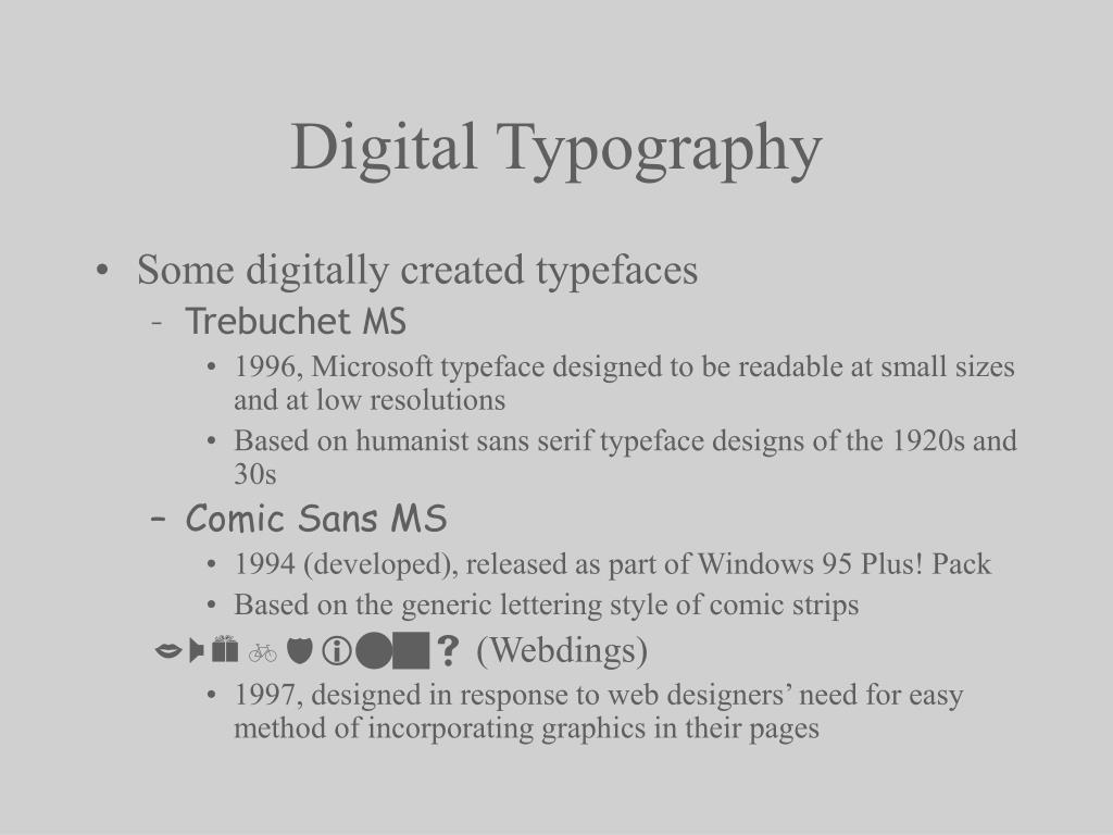 PPT - History of Typography PowerPoint Presentation - ID:338687
