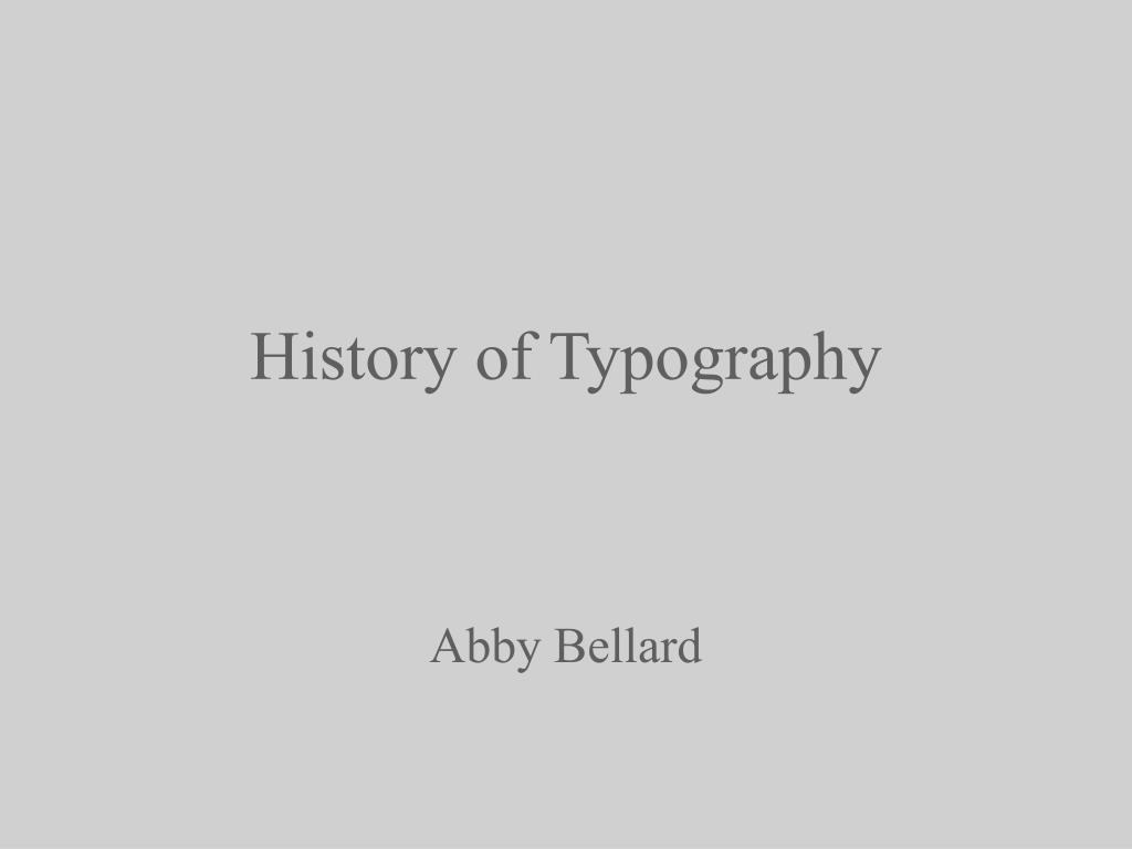 history of typography l.