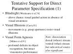 tentative support for direct parameter specification 1