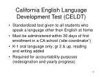 california english language development test celdt