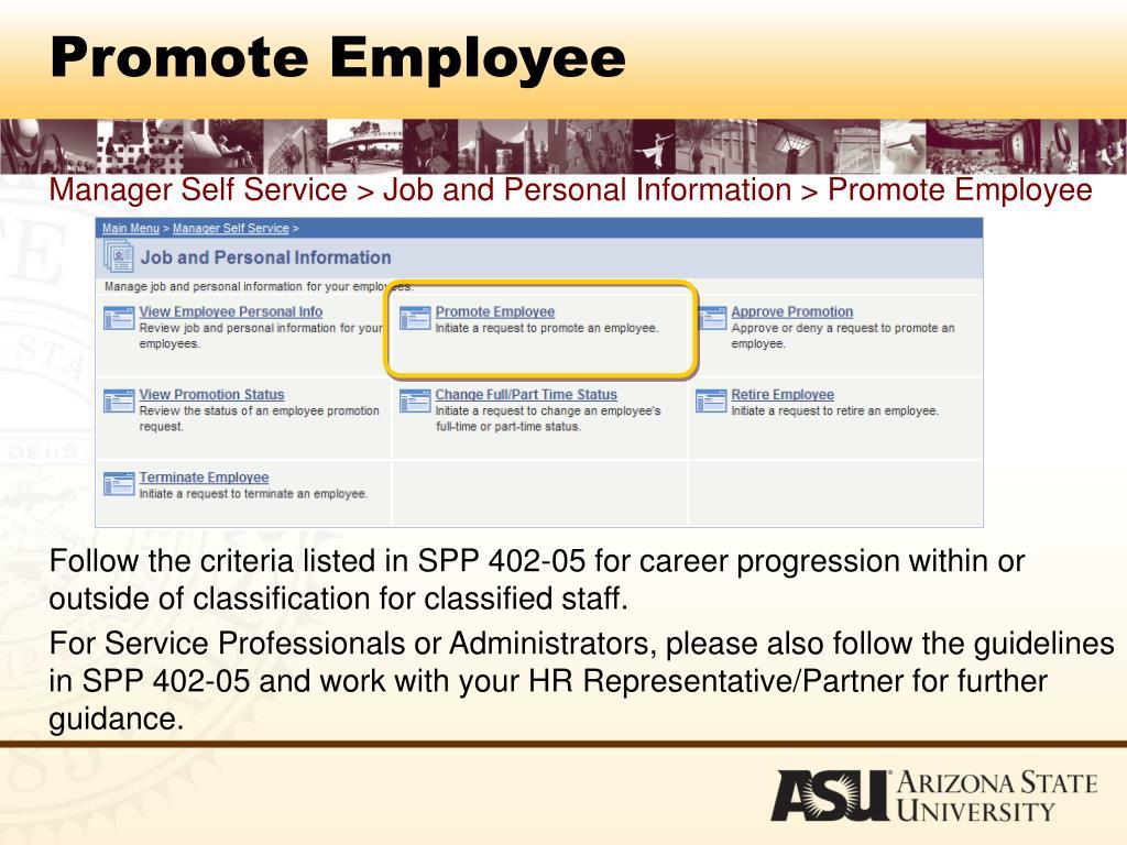 Promote Employee