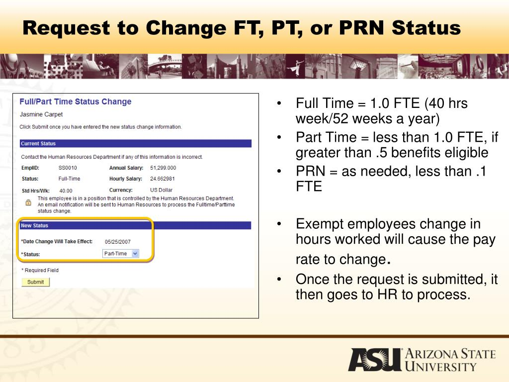 Full Time = 1.0 FTE (40 hrs week/52 weeks a year)