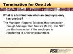 termination for one job85