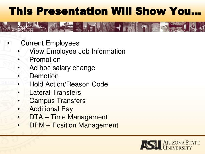 This presentation will show you3